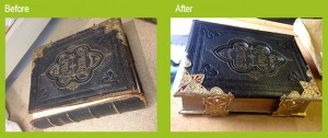 Before and after Bible Repair