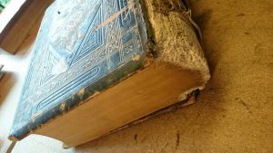Dog chewed bible repair